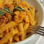 Pasta con Zucca e Amaretti