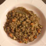 Lenticchie in umido piatto