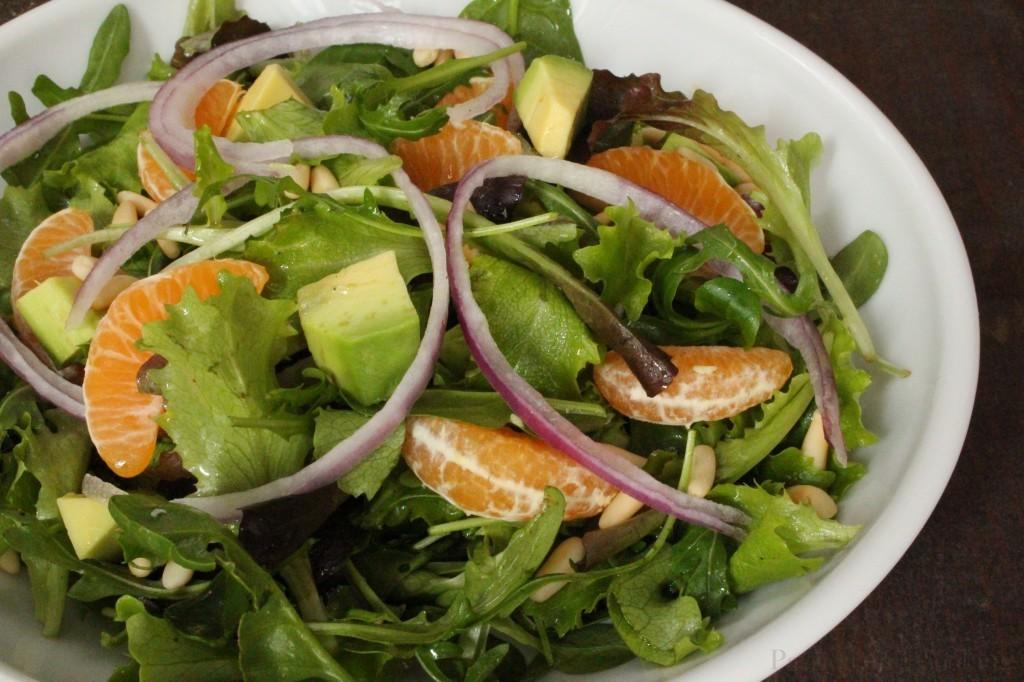 Insalata Avocado, Clementine e Pinoli