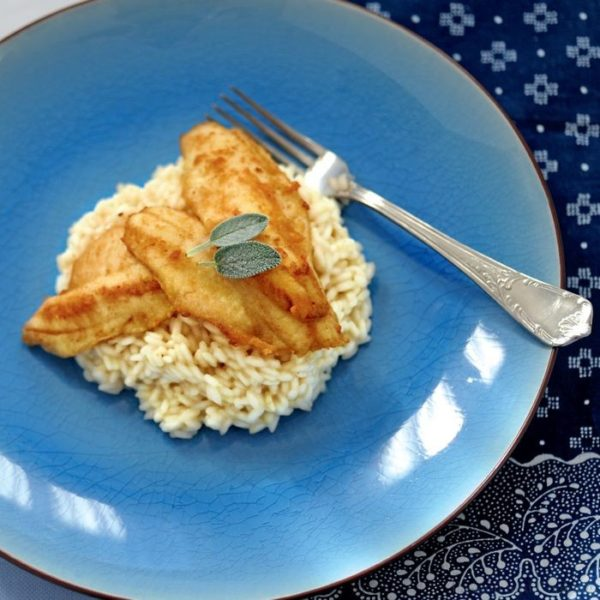 Risotto pesce persico Love is Eating