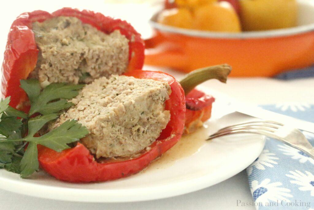 Peperoni ripieni piatto