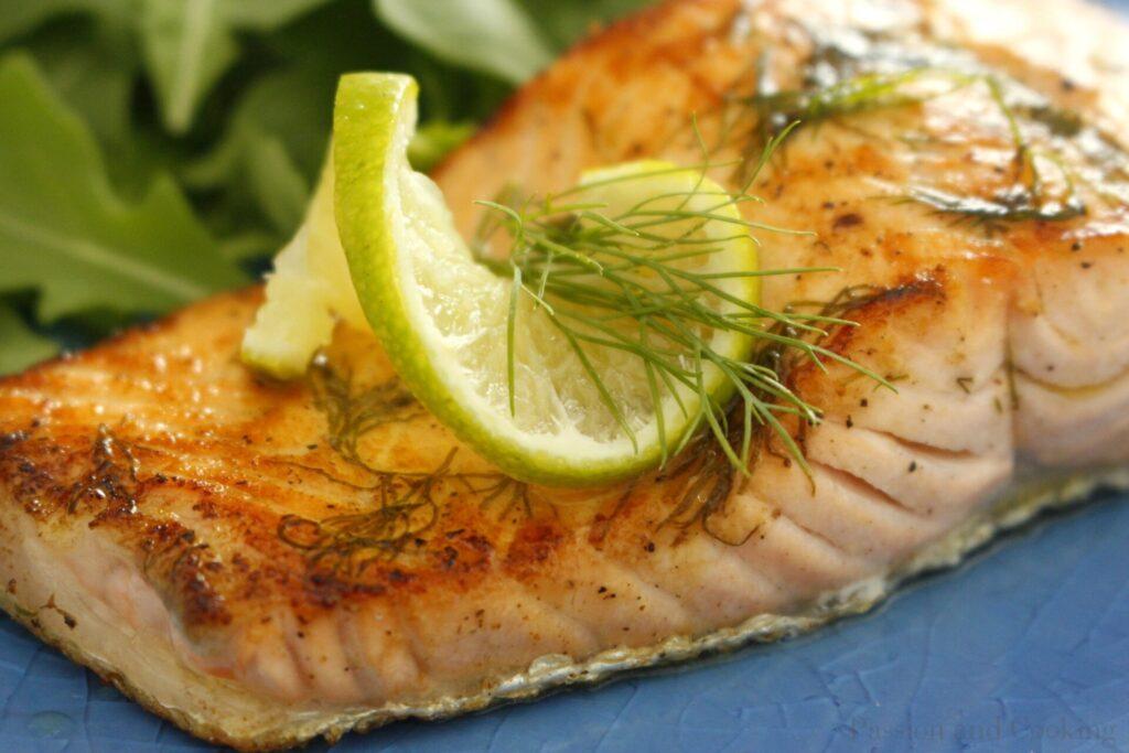 Salmone grigliato dettaglio