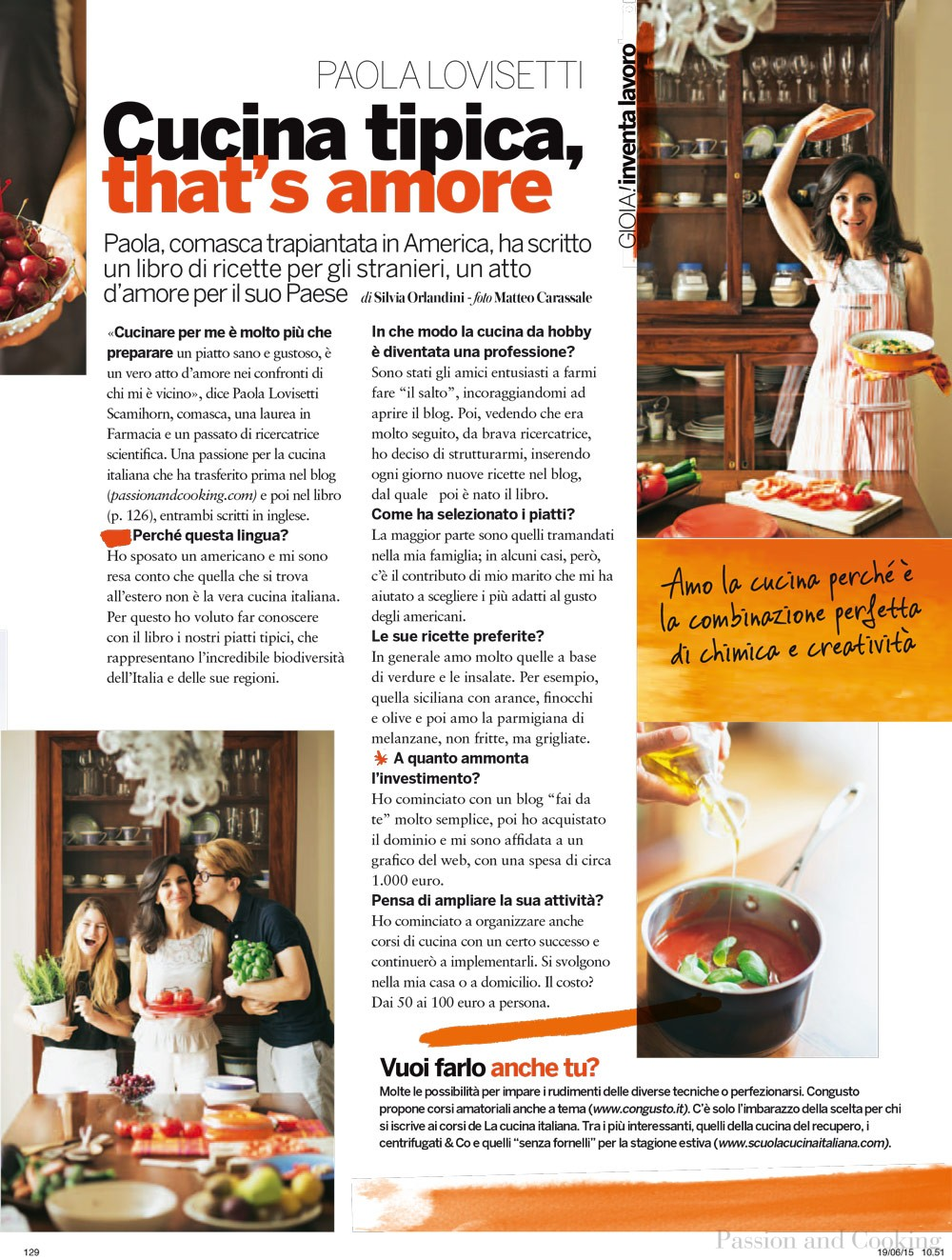press - passion and cooking - In Cucina Con Amore