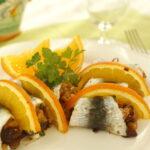 Spiedini di sardine all'arancia