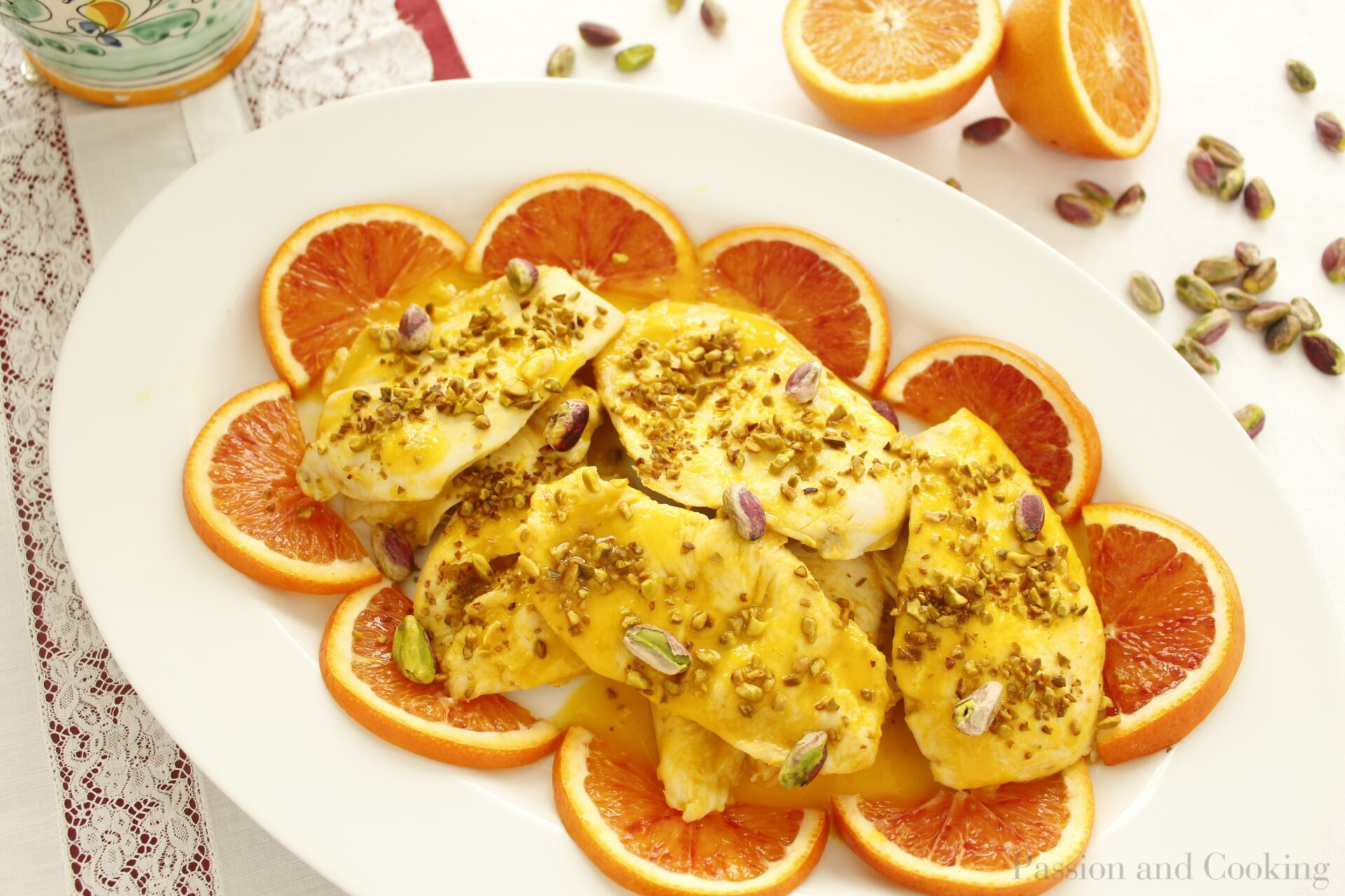 Pollo marinato all'arancia