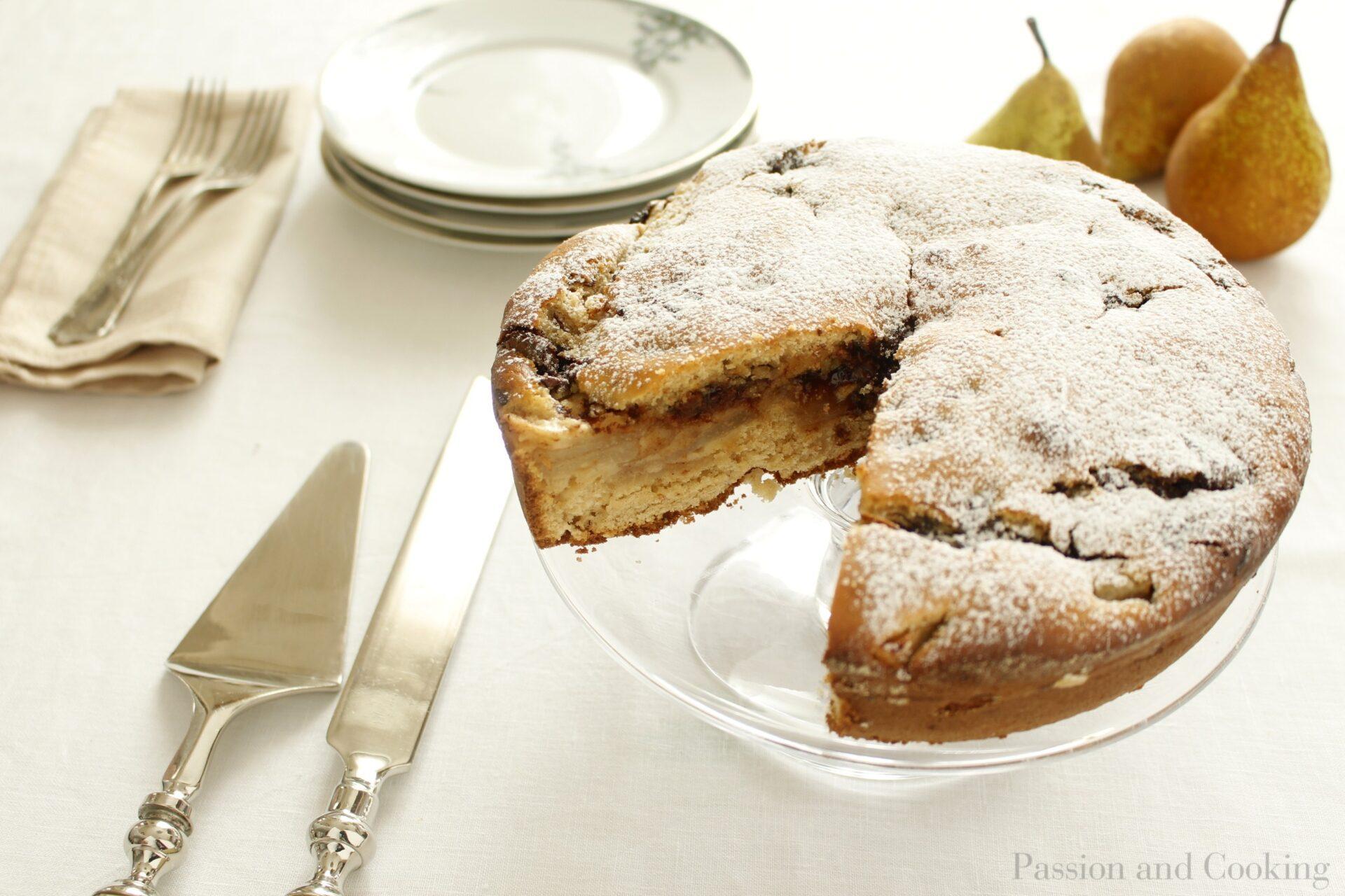 Torta Torta di farro pere e cioccolato