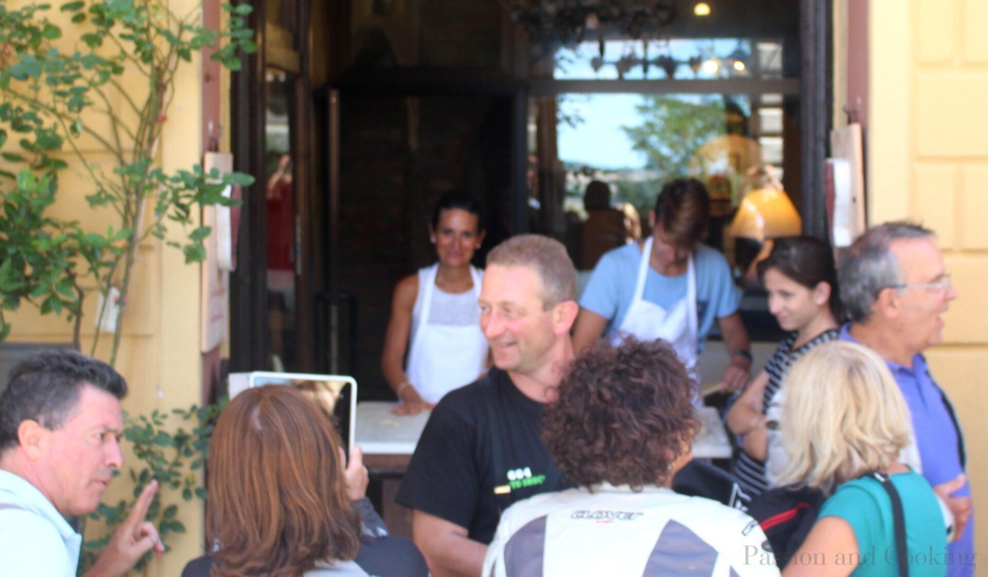 Making pici at Osteria Porta di Bacco