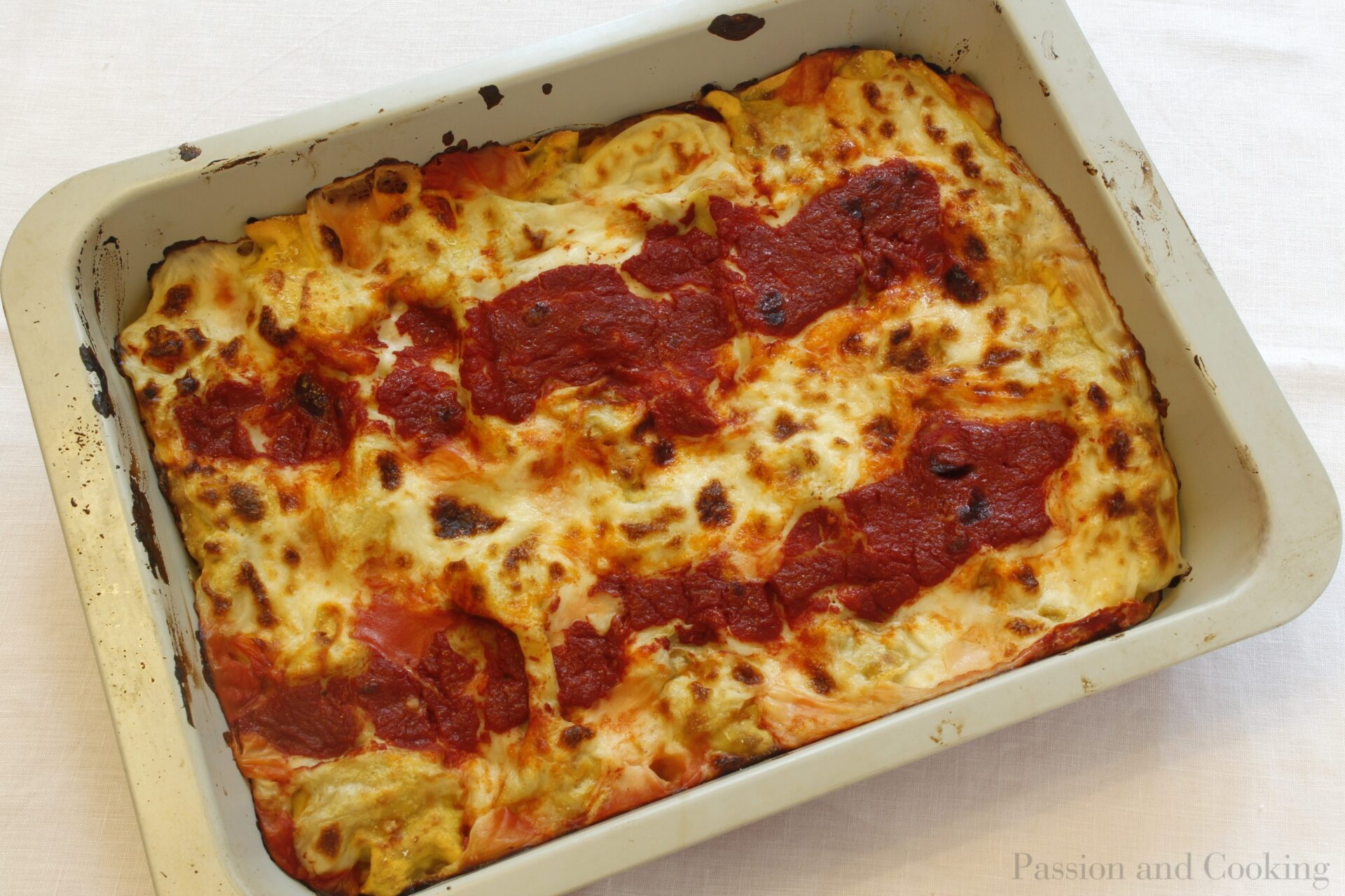 Cannelloni stuffed with meat- pan