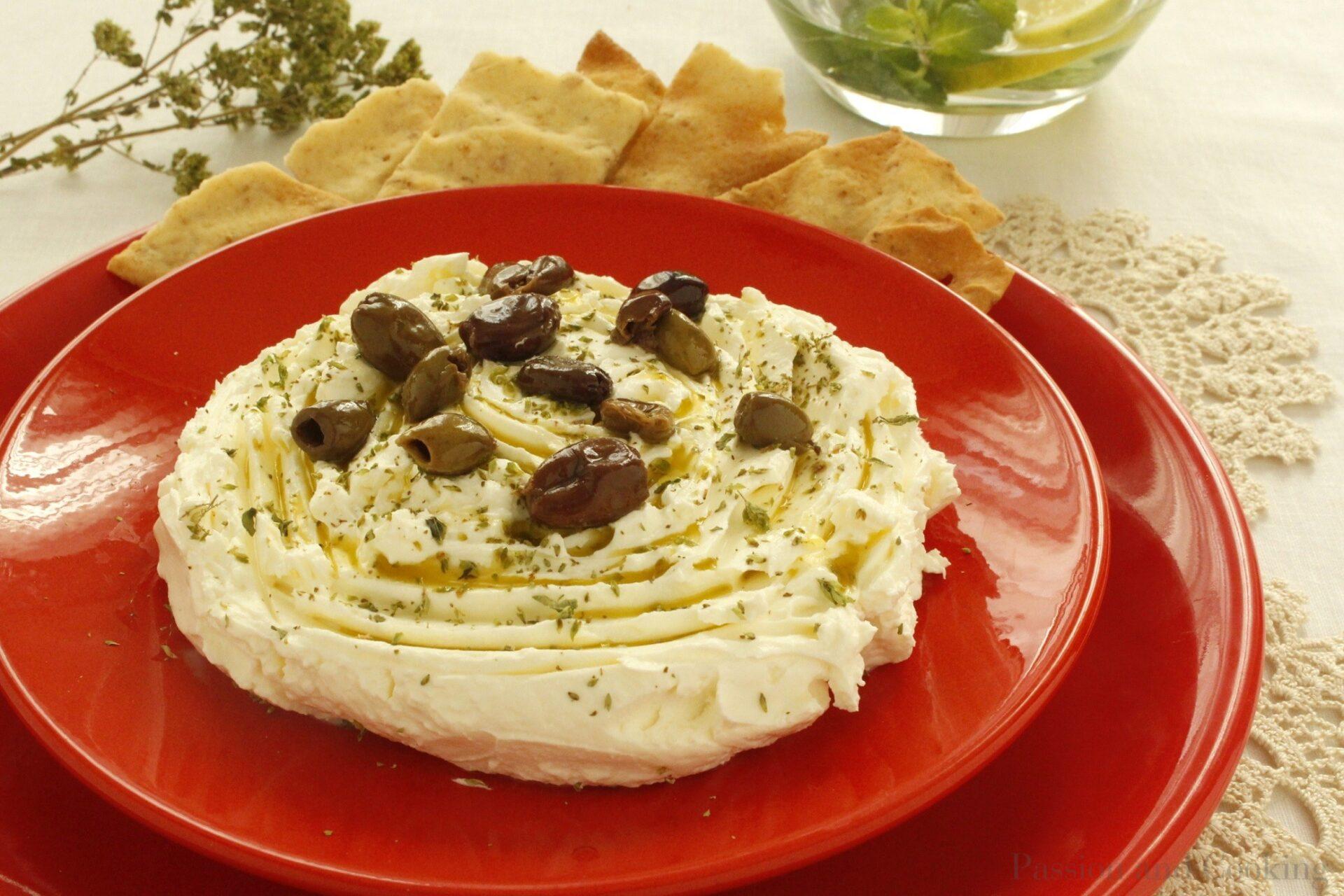 Cheese made with strained yogurt