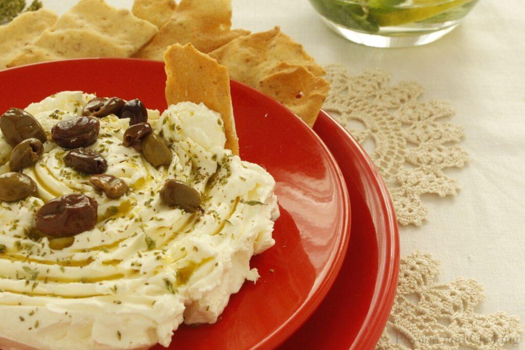 Cheese made with strained yogurt det.