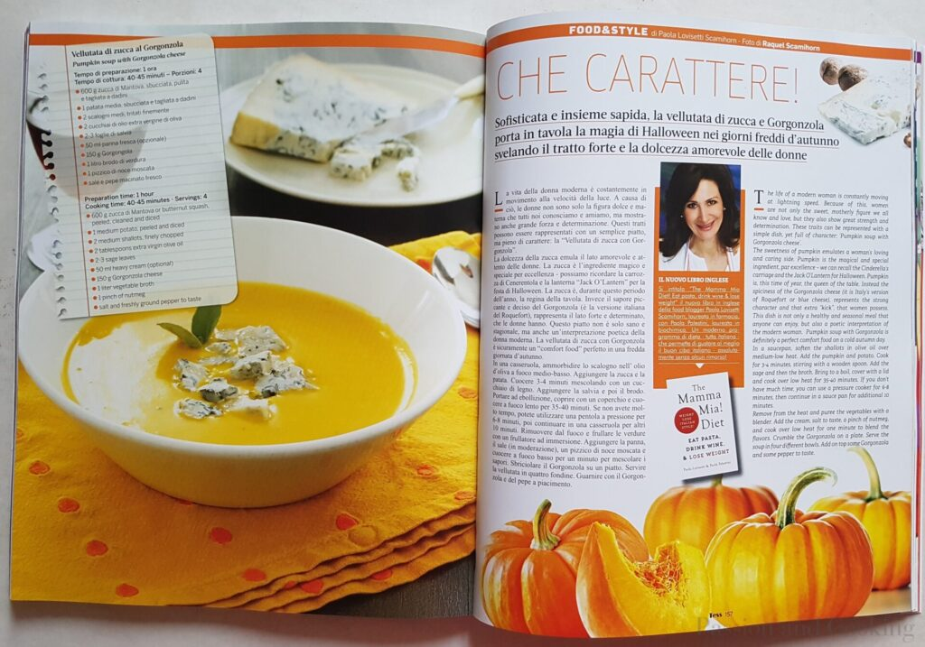 Pumpkin soup with Gorgonzola Cheese