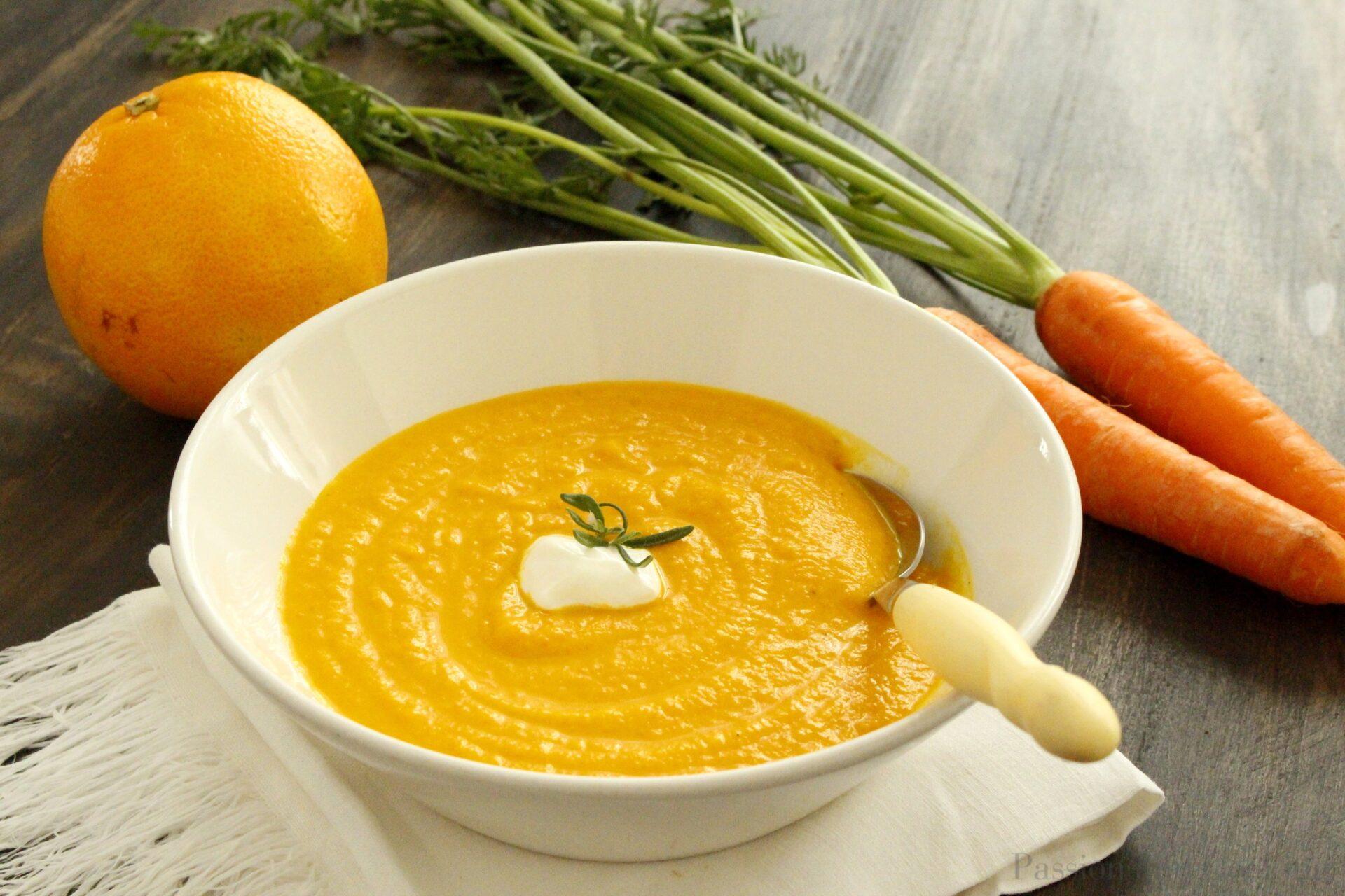 Vellutata carote arance e zenzero