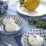 Lemon and rosemary sorbet