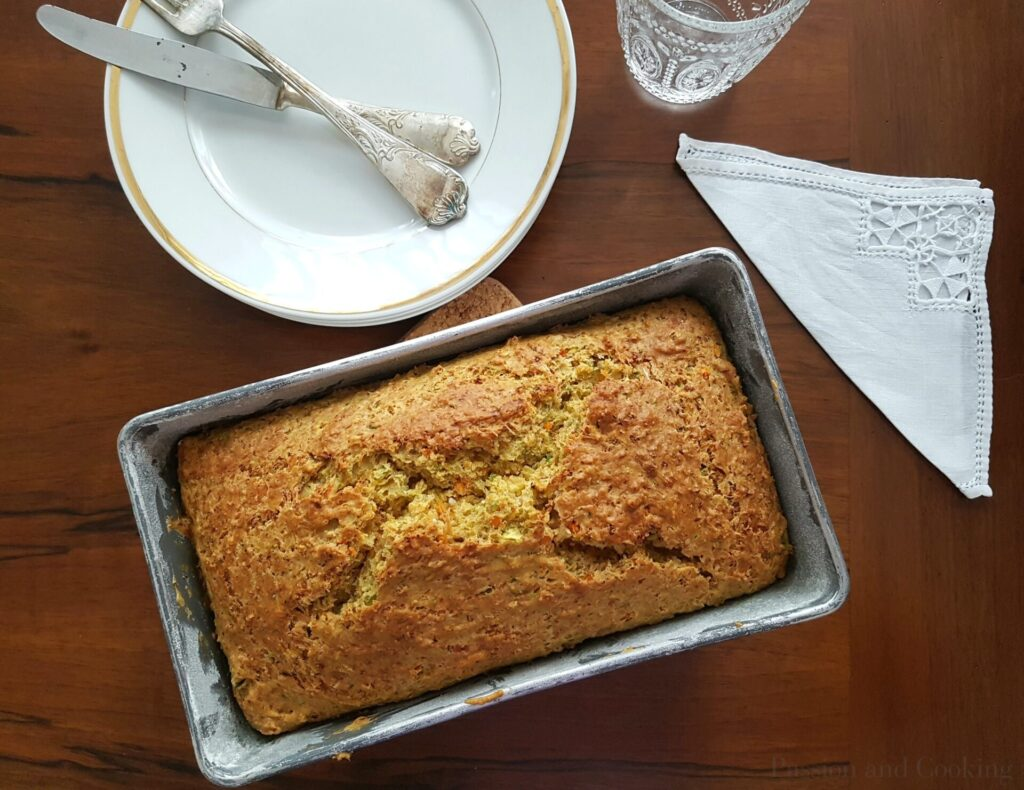 Zucchini carrot bread loaf