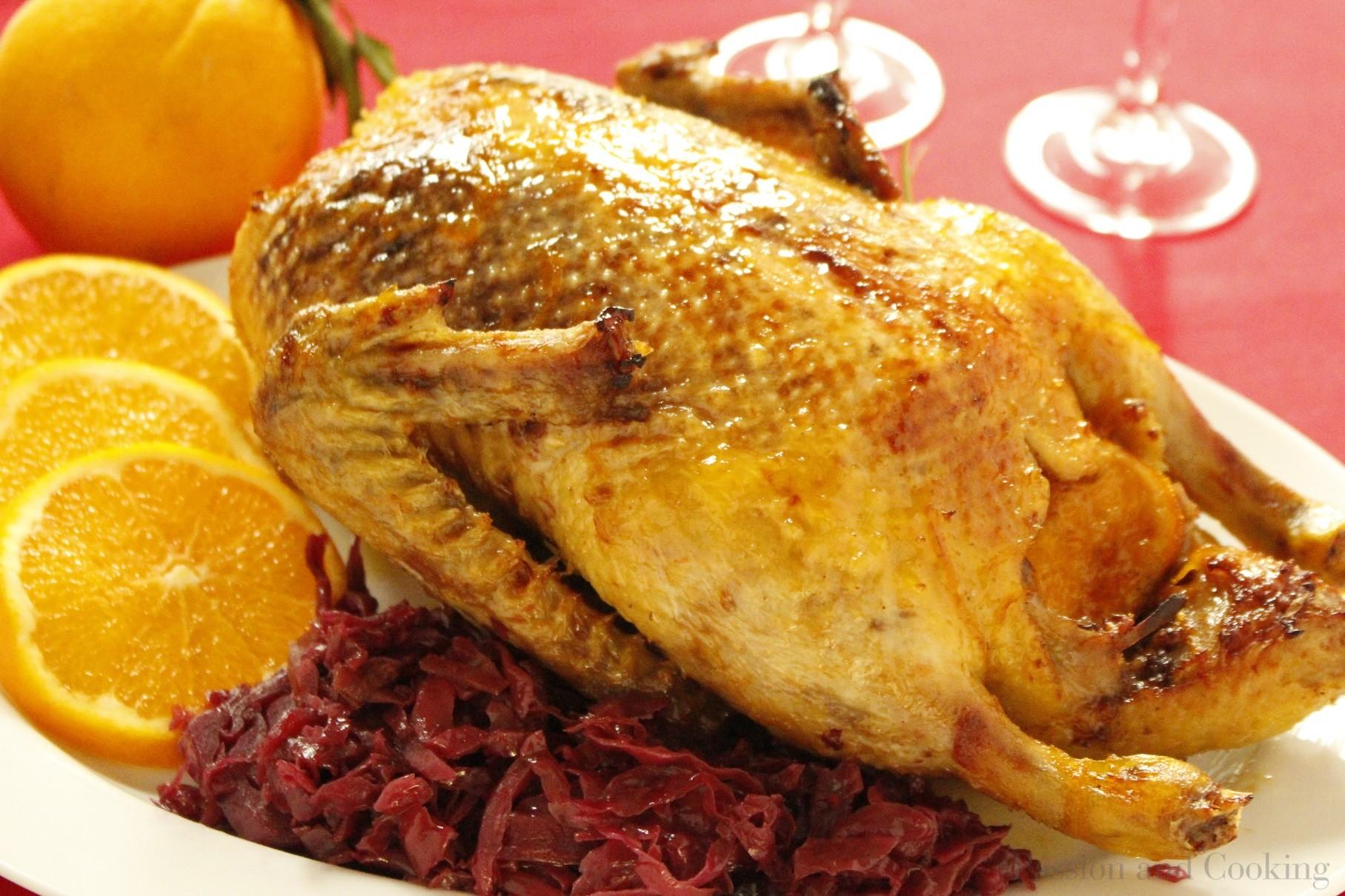 Anatra all'arancia e zenzero per pranzo di Natale