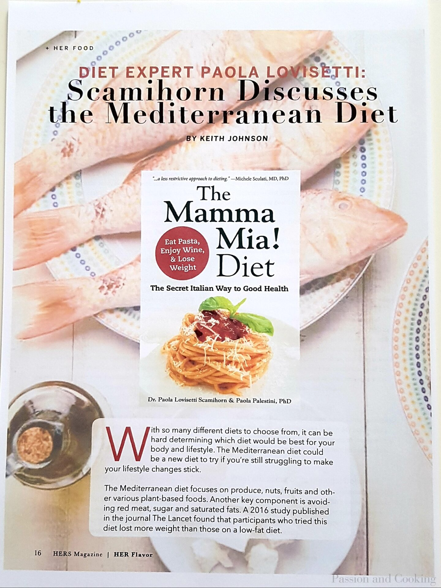 New Mediterranean diet, The Mamma Mia Diet