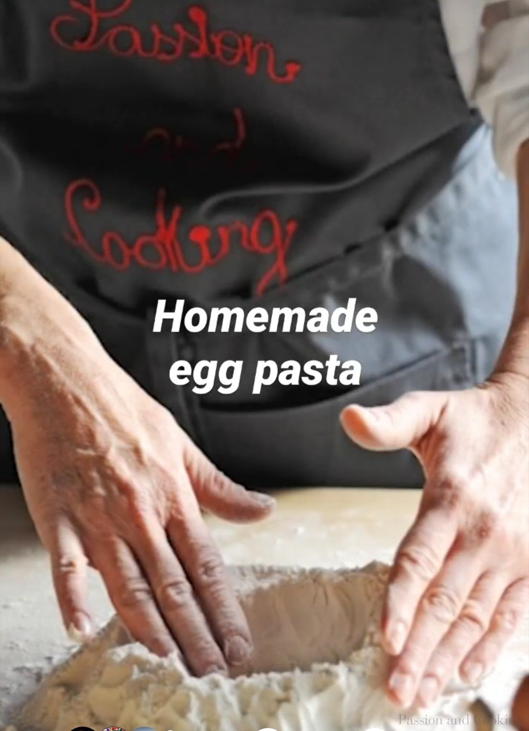 Homemade egg pasta