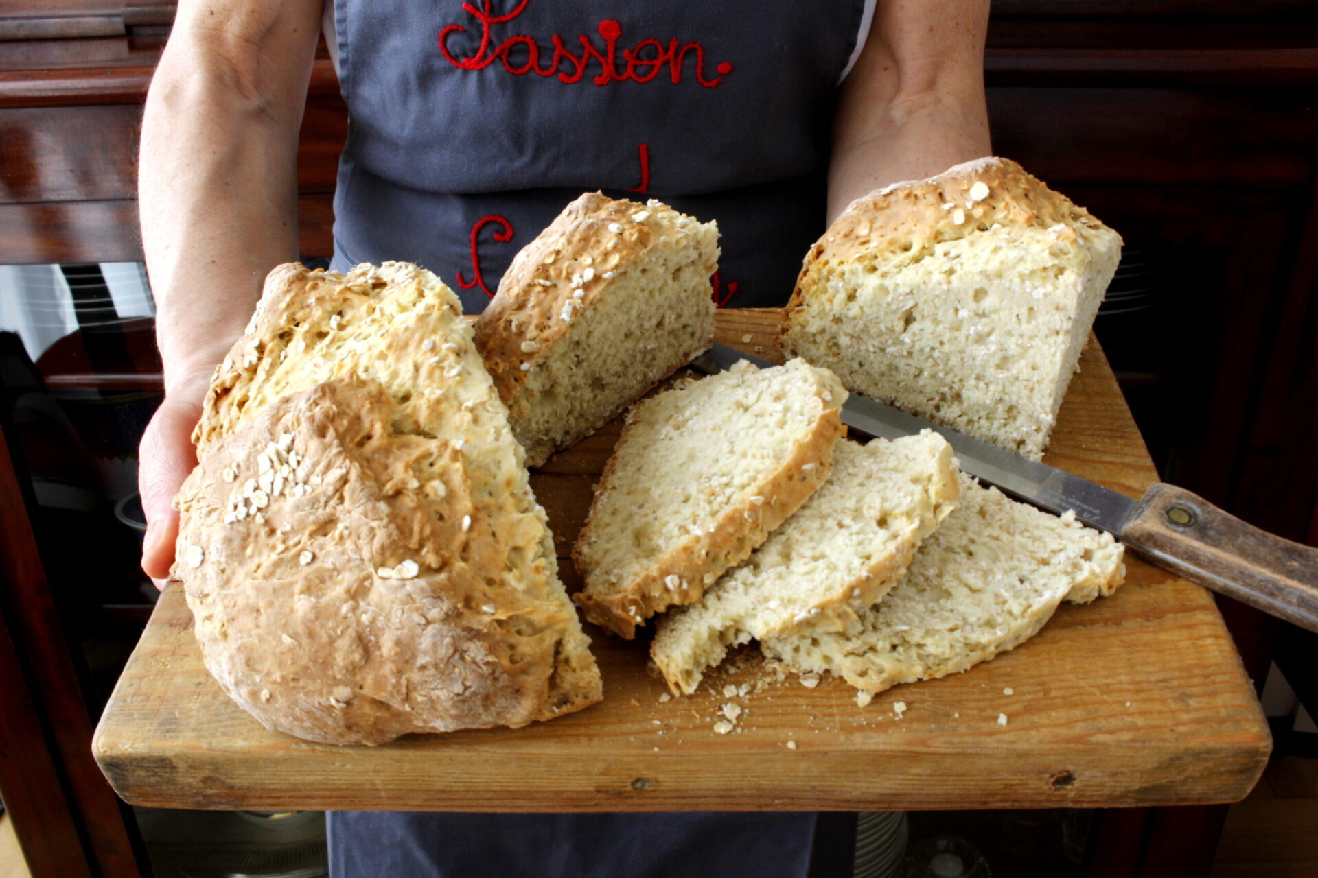 Soda bread with an Italian flavor
