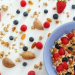 Homemade muesli, a tasty and healthy breakfast