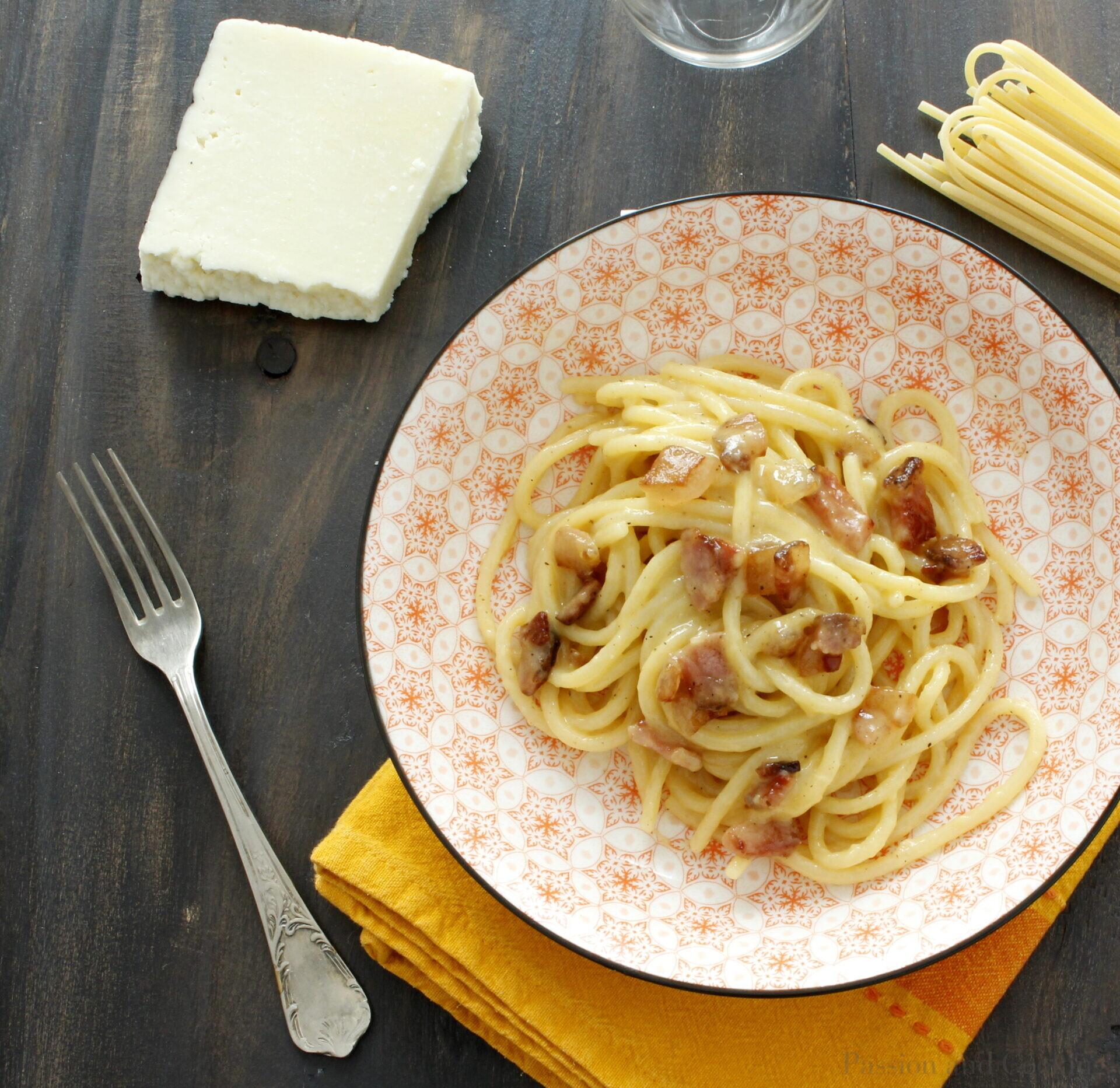 Carbonara Spaghetti, authentic recipe
