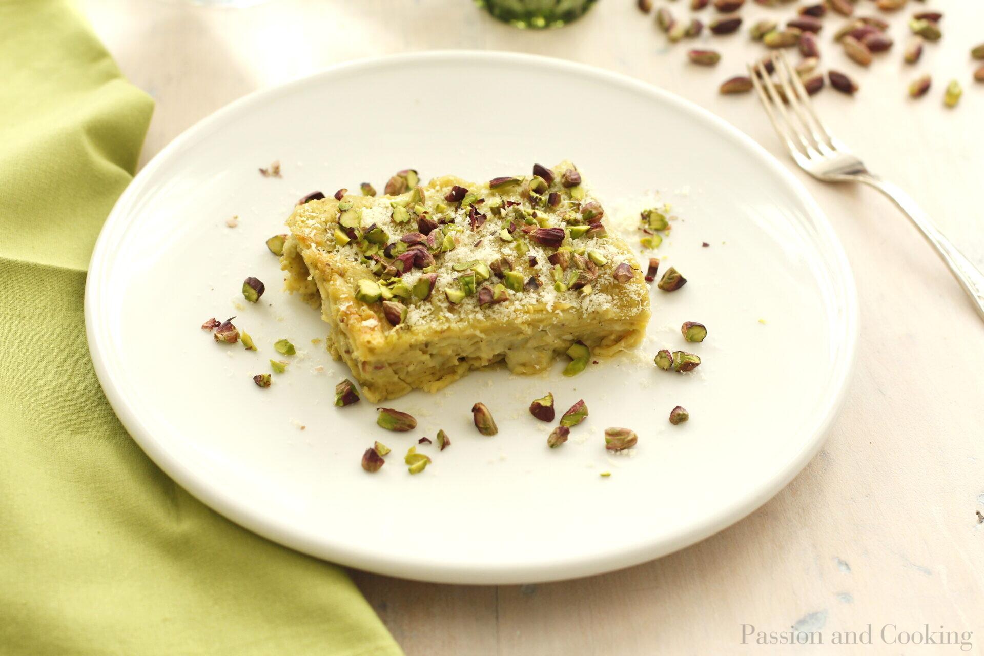 Lasagne al pesto di pistacchi