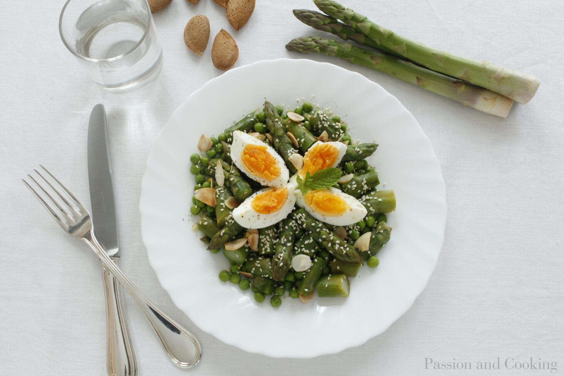 Peas and Asparagus salad